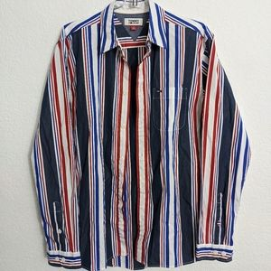Tommy Jeans Striped Retro Button Up Shirt Small